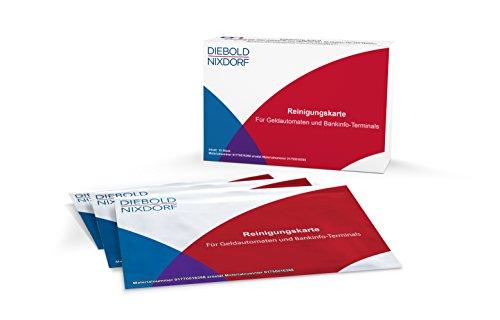 Diebold Nixdorf Juego de tarjetas de limpieza para magnético de y lector de tarjetas chip en dinero automáticas, banco Info de terminales de Wincor-Nixdorf, 10unidades)