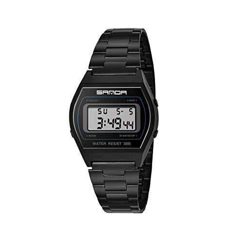 DEtasyXworld Sanda Watch Herren Shockproof Watch Student Wasserdichte Elektronische Uhr Multifunktions-Digital-Led-Sportuhr