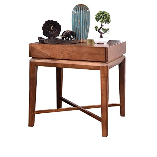 Coffee Table Nordic Hoek Tafel met grote opslag Planken Side Kabinet Locker kleine salontafel Creative eenvoudige tabellen coffee pot (Color : Brown, Size : 60x60x62)