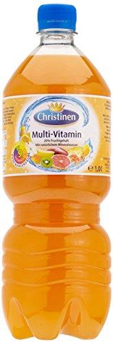 Christinen Multi-Vitamin ohne Kohlensäure Pet, 6er Pack, Einweg (6 x 1 l)