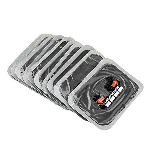 Qiilu 10Pcs 80 * 120mm Coche Parche de reparación de pinchazos de neumáticos de goma natural Parches sin cámara