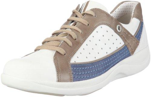 ARA Damen Fitness Halbschuhe, Weiss/Offwhite,Taupe/Jeans, 37 1/3 EU