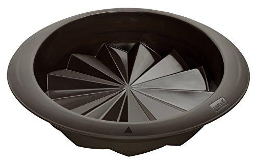 Lurch 85032 FlexiForm Fancy Cake / runde Backform Ø 24 cm aus 100% BPA-freiem Platin Silikon, braun