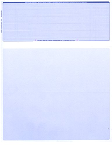 250 Computer Check Paper -Blank Stock Check Paper - Check on Top Blue Pinstripe
