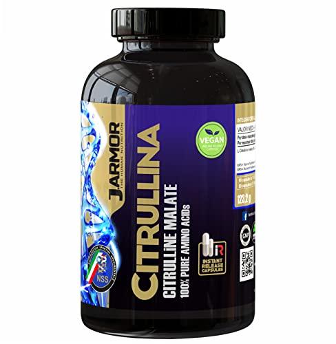 ossido nitrico erezione Citrullina Malato Integratore Pillole | 90 Capsule Vegetali da 1000 mg | Aminoacido Puro Per Massa Muscolare e Ossido Nitrico | Precursore dell' Arginina | Azione Duratura e Immediata | Vegan