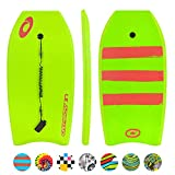 Osprey Bodyboard with Leash, HDPE Slick and Crescent Tail, XPE Boogie Board for Adults Children Kids, Multiple...