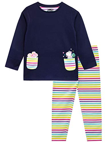 Peppa Pig Girls Sweatshirt and Leggings Set Size 4 Multicolored