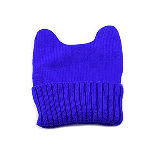 Broadfashion -  Berretto in maglia  - Donna zaffiro blu