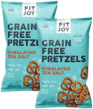 FitJoy Gluten Free Pretzels Himalayan Pink Salt Twists Grain Free 5 Ounce Bags 2 Pack product image