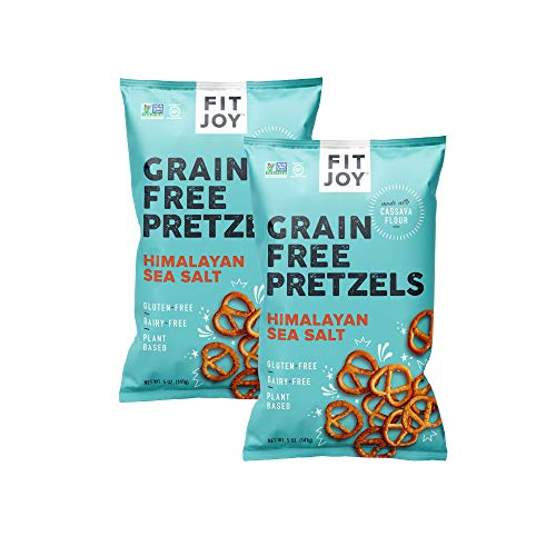 FitJoy Gluten Free Pretzels, Sea Salt Twists, Grain Free, 5 Ounce Bags, 2 Pack
