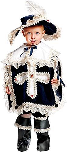 Costume di Carnevale da Moschettiere Prestige Neonato Vestito per Neonato Bambino 0-3 Anni Travestimento Veneziano Halloween Cosplay Festa Party 50563 Taglia 2