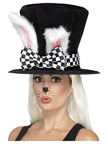 shoperama Alice im Wunderland Teeparty Märzhase Zylinder mit Hasenohren Kostüm-Zubehör Hut