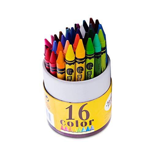 MARSACE Buntstifte Ölkreide Farben Waschbar Ungiftige 3-in-1-Wirkung (Crayon-Pastell-Aquarell) Make-up-Gesichtsfarbe-Sticks für Kinder Kleinkinder Party Cosplay 16 Farbe