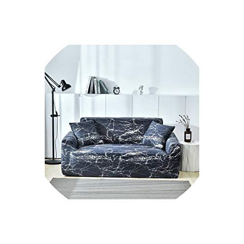 XUELI Funda elástica para sofá de dos y cuatro asientos, diseño de corazón, color rosa
