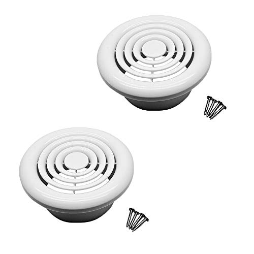 Circle Air Vent Cover 100mm 4'' Ducting White High Quality ABS Plastic 2 Pcs