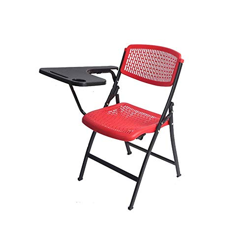 Stoelen en krukken Klapstoel Plastic Business Meeting Chair Portable Office Training klapstoel Met metalen frame en kunststof zitting, Folding @ Home Office Party Chair (Size : -)