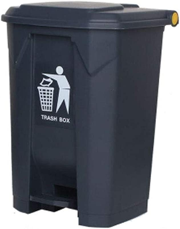 Kffc Big Trash Can Foot Open Cover Can Be Hung On The Car 30 45 68 87 Litre Gray Size 87 L