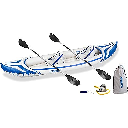 Sea Eagle SE370SK_P 3 Person Blow Up Inflatable Lightweight...