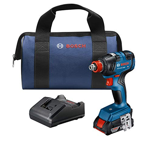 Bosch GDX18V-1800B12 18V EC Brushless 1/4 In. and 1/2 In. Two-in-One Bit/Socket Impact Driver Kit with 2.0 Ah SlimPack Battery