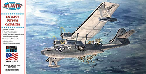 PBY-5A Catalina US Navy Seaplane Plastic Model Kit 1/104 Atlantis