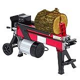 Cortador hidráulico de madera hasta 52 cm, 7 toneladas de fuerza de corte, 230 V, 2200 W, cortador de troncos de pie