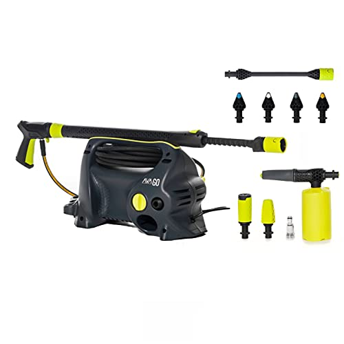 AVA Pressure Washer, GO P40, Ultra-portable power washer for car cleaning, patios, and more - Includes award winning zoom lance 120 Bar 390 L/H, 1700 W - Includes Nozzle kit