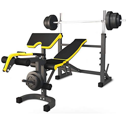 WDXLT Workout Bench Set,Einstellbar Alles In Einem Hantelbänke,Dickem Klappbares Fitnessbank,Ganzkörper-Workout 661 Lbs Kapazität