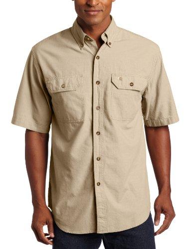 Carhartt Fort Solid Kurzarm Hemd, Dark Tan Chambray, XL