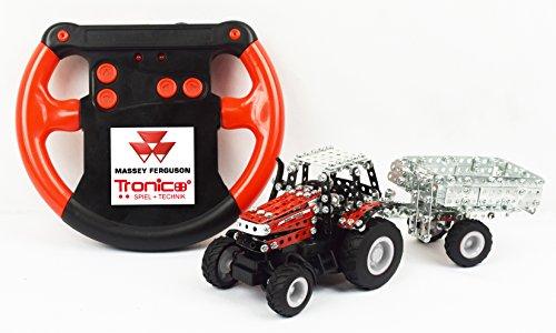 Metallbaukasten RC Traktor Claas Axion 850 Komplett-Set - 462 Teile LED Licht Maßstab 1:64 Werkzeug Set ab 12 Jahren Anleitung Erwachsene Metallbaukästen Metallbautechnik Lernfeld Micro Tronico*