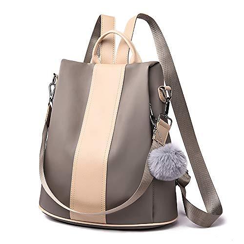 Damen Rucksack Wasserdicht Nylon Groß Schultaschen Anti-Diebstahl Tagesrucksack Handtaschen Daypack...