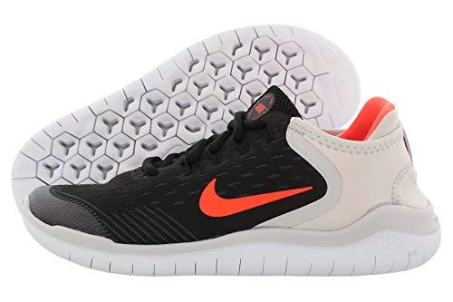 Kids Nike Girls Free RN Low Top Lace Up Running, Black, Size Toddler 4.0