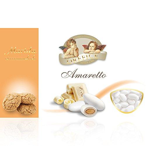 Italienisch Hochzeitsmandeln für Gastgeschenke mit Weiß Schokolade und Amaretto Kekse Geschmack   90 Stücke