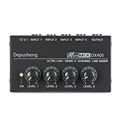 Ultra compact 4 channels input and 1 channel output line MONO mixer. Each input channel can be adjusted volume individually. With highest sonic quality even at maximum output level. Ultra low noise 4580 operational amplifier for outstanding audio per...