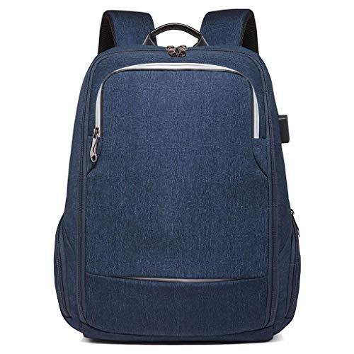 SHRAY 36-55L Waterproof Travel Backpack Men Business USB Charging Computer Backpack Multifunction Student School Bag Blue