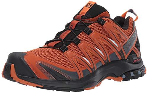 Salomon Men's Trail Running Shoes, XA Pro 3D, Umber/Black/Hawaiian Sunset, Size 7.5