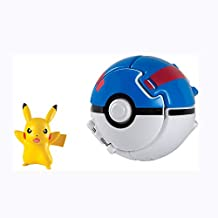 Pokemon Throw N Pop Ball and Pikachu Action Figure Toy
