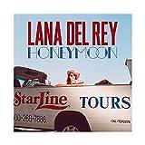 Hot Music Singer Lana Del Rey Honeymoon Canvas Poster...