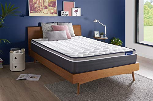 Matelas Actiflex Plus 160 x 200 cm Ressorts ensachés et mémoire de Forme - Epaisseur : 26 cm - Confort : Très Ferme - 7 Zones de Confort