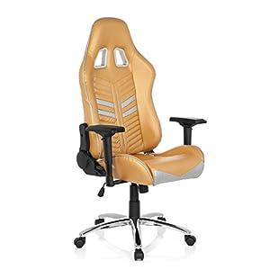hjh OFFICE 729240 silla gaming LEAGUE PRO piel sintética negro/rojo silla escritorioe metal estable, silla de oficina, silla racing