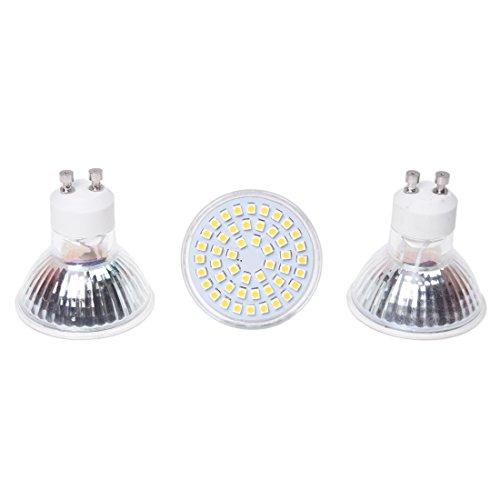 SODIAL 3x 3W GU10 48 LED SMD Spot Lamp Bulb Warm White Bulb