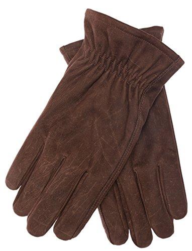 DIDSO Herren Leder Handschuhe COWBOY mit Thinsulate Futter aus 100% Rindsleder, Braun L