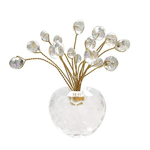 Senliart Kleine Kristall-Bäume, künstliche Bäume, Büro-Schreibtisch-Dekor für Frauen, weiß