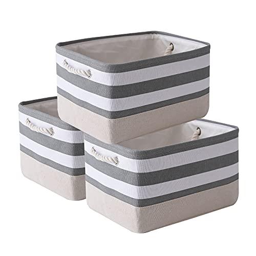 TcaFmac Fabric Storage Basket, Decorative Canvas Storage Bins Baskets for Gifts Empty