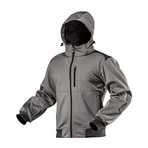 NEO TOOLS Veste softshell pour l'hiver Gris imperméable Veste de travail Veste de travail Outdoor Veste de sécurité Veste de randonnée XL