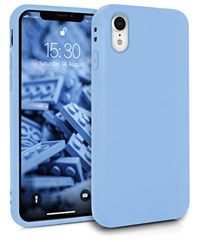 MyGadget Funda Slim para Apple iPhone XR en Silicona TPU - Resistente Carcasa Antichoque Flexible & Ultra Protectora - Friendly Pocket Case - Azul Claro