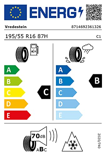 Gomme Vredestein Wintrac 195 55 R16 87H TL Invernali per Auto