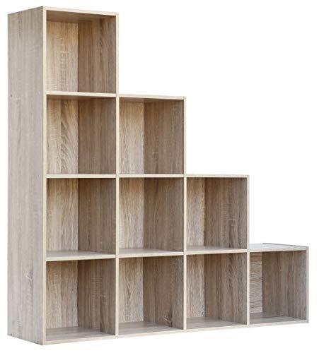 Klum 6 vani colore bianco cm 145x29x145 h ferramenta-utensili Libreria Mod