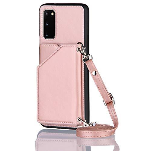 Lanyard - Funda para Samsung Galaxy S20 (6,2 pulgadas), color oro rosa