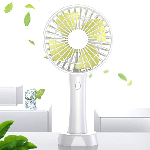 LINKDOO Mini Handheld Fan, Desktop Fan, Portable USB Handheld Fan, Rechargeable Handheld Fan, Battery Can Be Installed, Ultra-Quiet Hand-held Small Fan