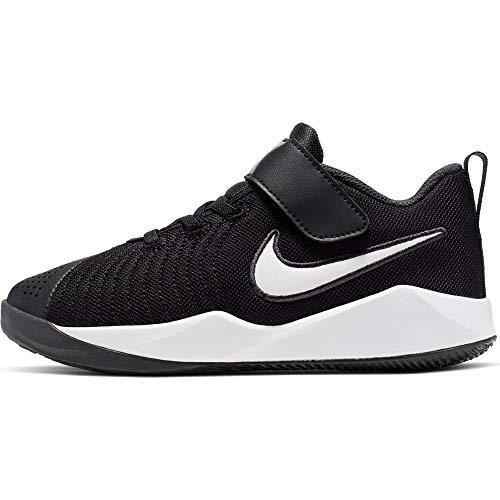 Nike Unisex-Child Team Hustle Quick 2 (PS) Basketball Shoe, Black/White-Anthracite-Volt, 28.5 EU